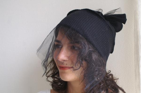 bonnet à voilette