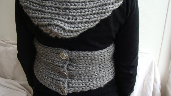 collection 2009 écharpe capuche cache-coeur