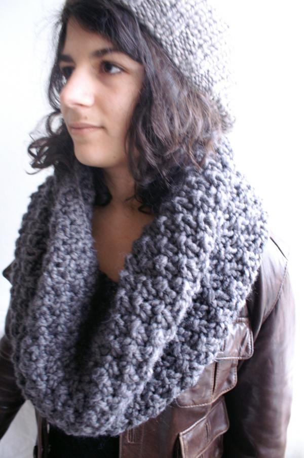 collection 2010 snood et beret taupe