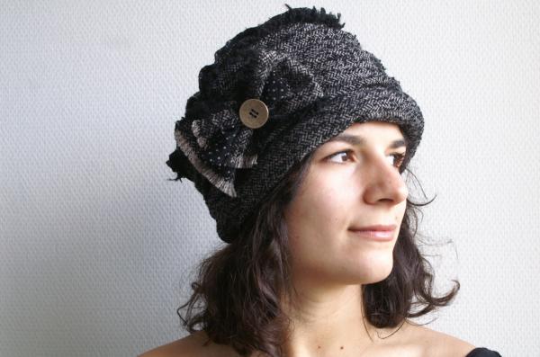 """chapeau """"Tweed"""" gris"""